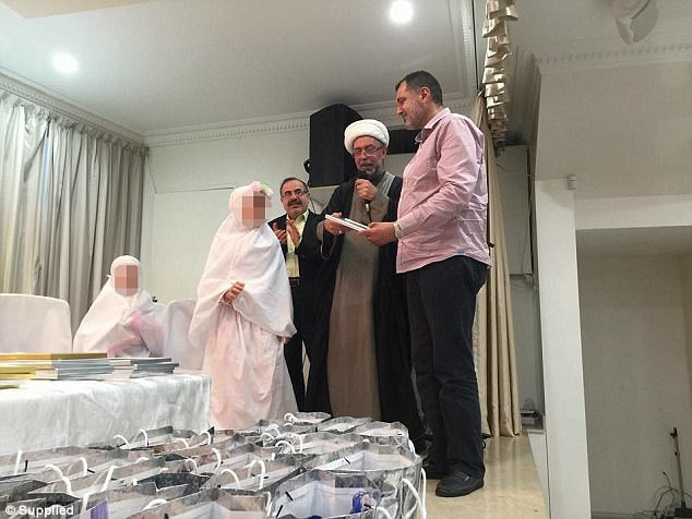 Australia's most senior Shia cleric said the hijab ceremony was to symbolise a nine-year-old girl's maturity before very quickly retracting his statement