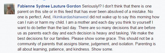 Some commenters, however, came to Kim's defense and told the others to mind their own business