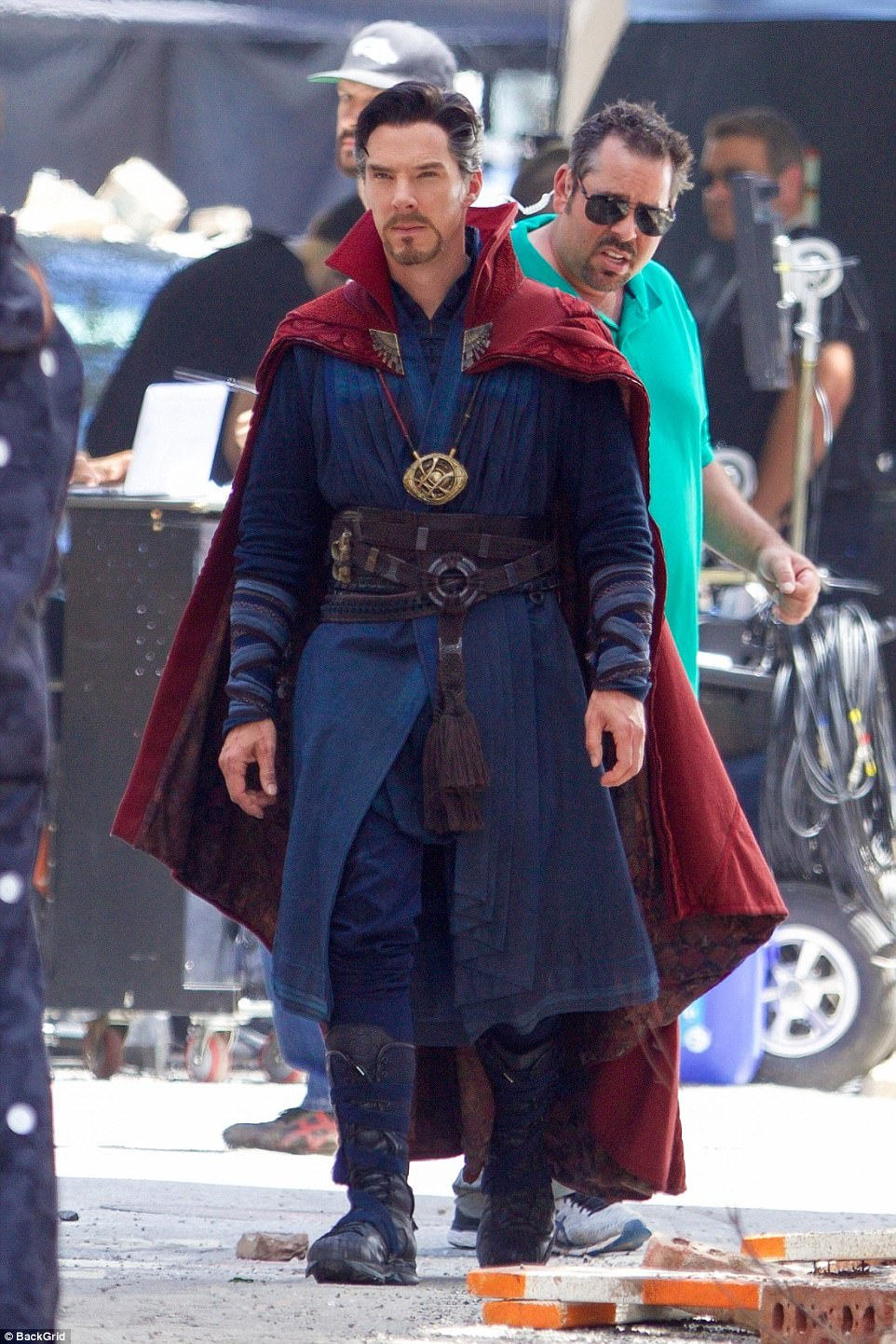 The boys are back in town: Benedict Cumberbatch was back as Doctor Strange on Monday as filming resumed for next Marvel flick Avengers: Infinity War