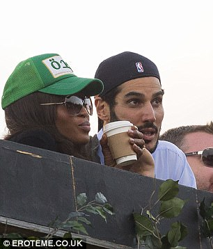 A-list connections: Hassan was previously spotted looking affectionate with supermodel Naomi Campbell in July 2016 at the British Summer Time Festival in London