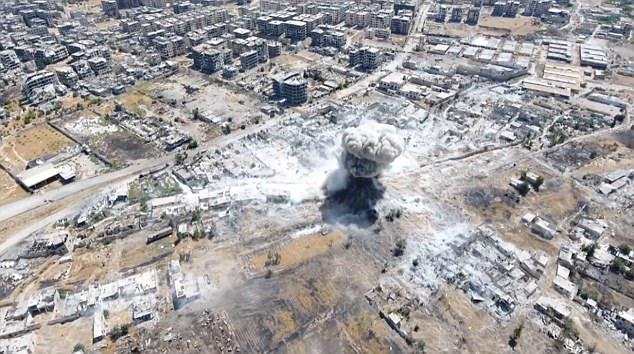 El tamaño de la explosión se ilustra con la imagen fija de la huelga que tuvo lugar el martes