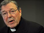 Cardinal George Pell has been charged over sex abuse allegations (pictured eating in Italy)