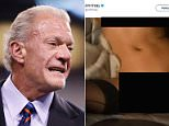 Jim Irsay, the owner of the Indianapolis Colts (pictured in November 2016), tweeted out a photo of a naked woman Thursday night - but claimed he was hacked
