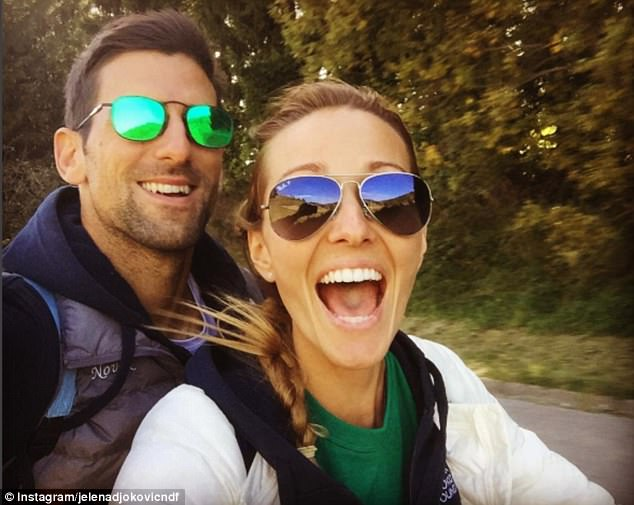 The happy couple run a charitable foundation together away from the tennis circuit