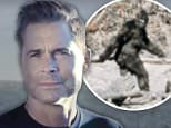 Ape escape: Rob Lowe (center) says he met a Bigfoot-like creature while filming his new paranormal documentary series with sons and Matthew (left) and John Owen (right)