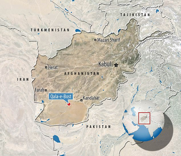 Se afirma que las fuerzas especiales soldados asesinados en lugar de cuatro miembros de la familia capturados durante una incursión de la noche en sus casas en Qala-e-Bost, provincia de Helmand (en la foto)
