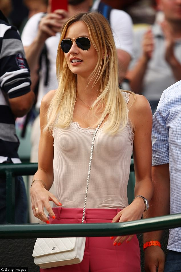 Glamorous Ester supporting her husband at Wimbledon on day nine of the championship in 2016