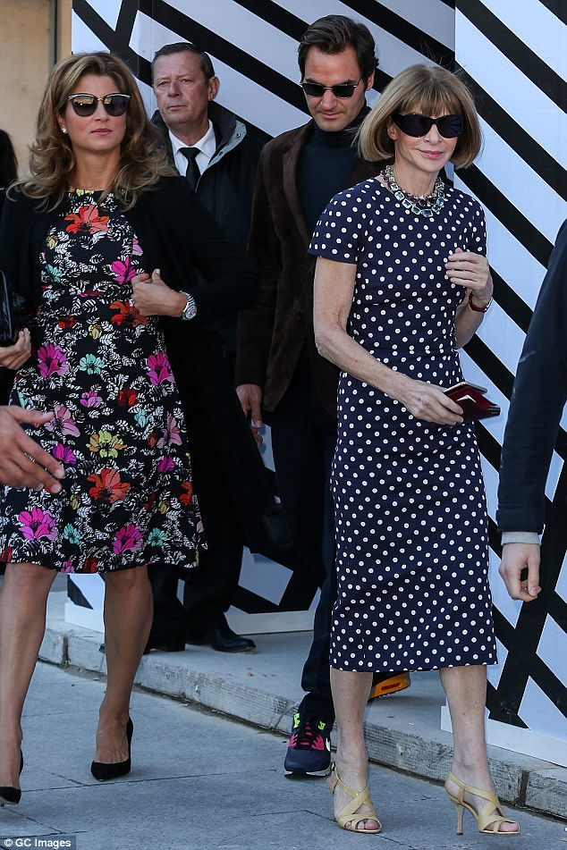 Mirka has struck up a friendship with Vogue editor Anna Wintour after rubbing shoulders in the Royal Box at Wimbledon