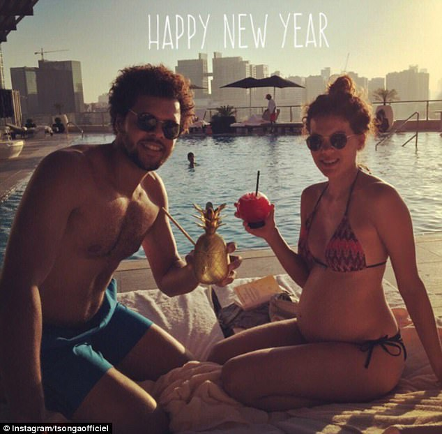 Swiss-born Noura has been datingFrenchman Jo-Wilfried Tsonga for four years and recently gave birth to their first child