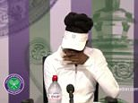 Venus Williams broke down in tears at a Wimbledon press conference today, pictured, after being asked about the fatal car crash she was involved in last month
