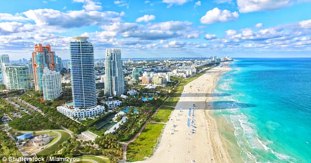 Miami's bustling South Beach, located between Biscayne Bay and the Atlantic Ocean, is a top destination for cosmopolitan sunseekers
