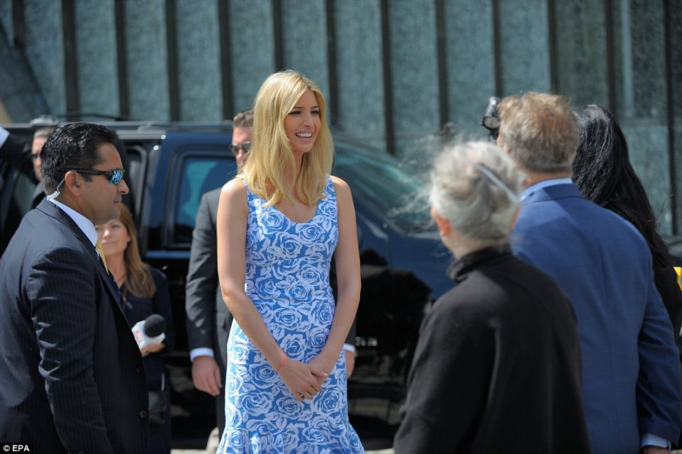 Trump's daughter, Ivanka, visited the Monument to the Ghetto Heroes in Warsaw on Thursday