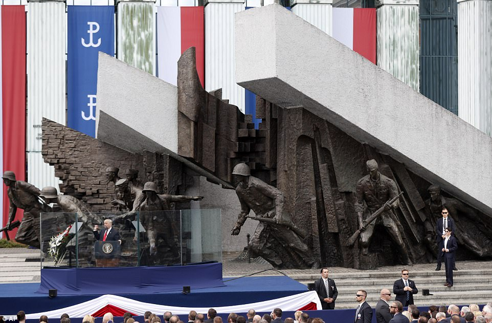 The Warsaw Uprising (its monument pictured above) was the largest act of resistance by any nation under the German occupation during World War II, and the heroism of the insurgents remains a defining element in Polish national identity