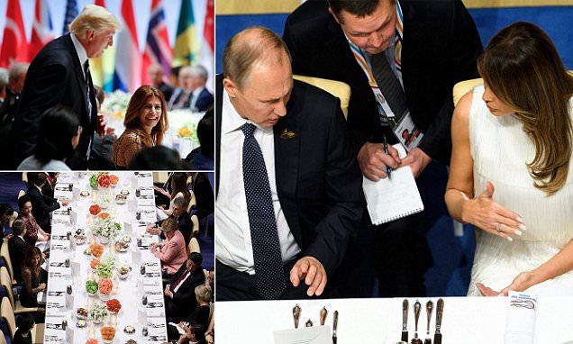 Melania Trump sits beside Putin at G20 banquet