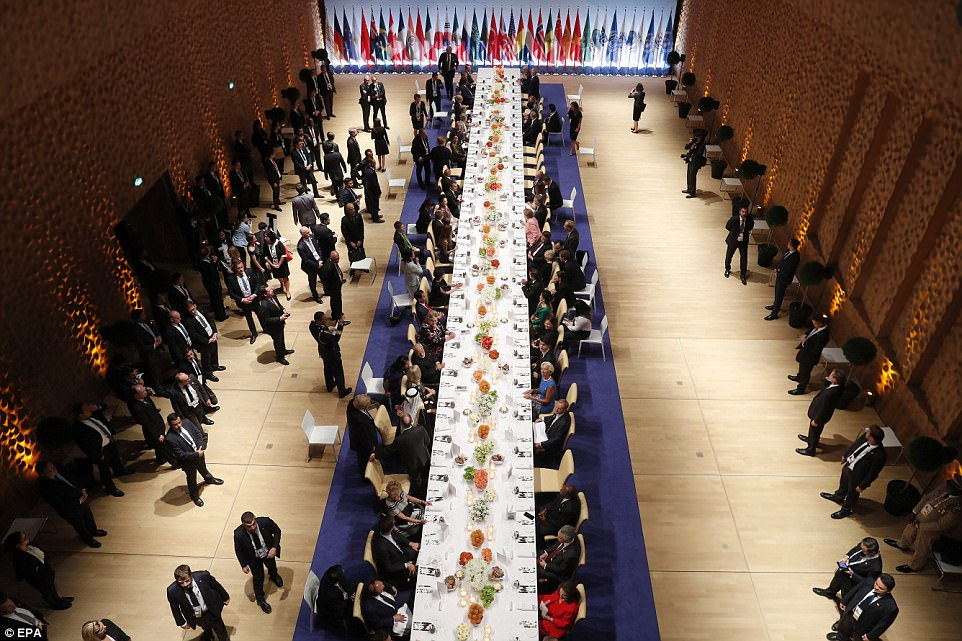 On Friday night, world leaders and their spouses attended a dinner - and were separated and thus seated by leaders and spouses of other countries - as the day's events at the G20 drew to a close