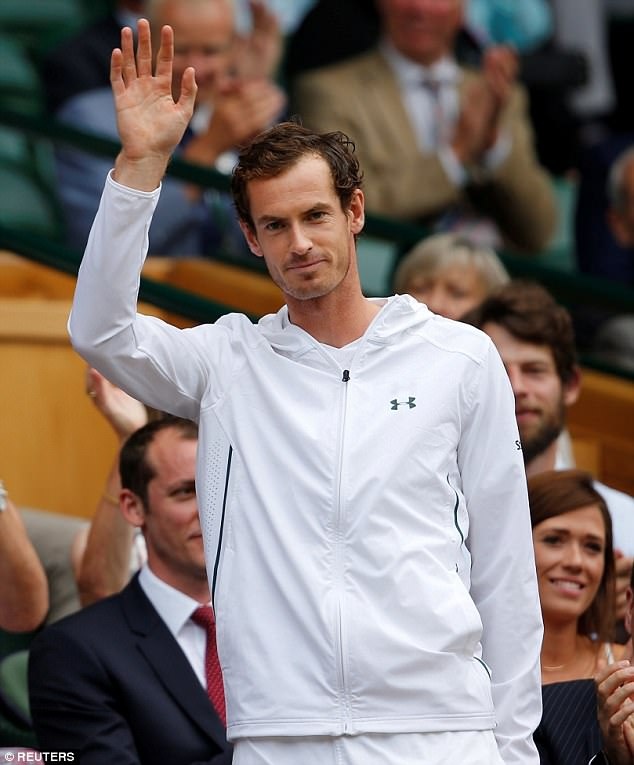 Tennis champion Andy Murray, pictured, was spotted among the Olympians while on his day off after winning against Italy's Fabio Fognini yesterday