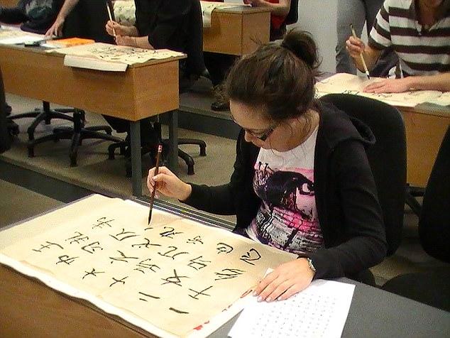 A Student of UCD Confucius Institute for Ireland writes in Mandarin