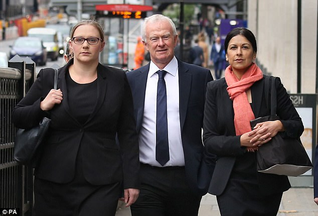 Leigh Day solicitors Anna Crowther, left, Martyn Day, centre , and Sapna Malik, right, were cleared of any wrongdoing concerning their work on torture allegations against British troops in Iraq in June