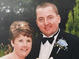 Michael Danaher, pictured with his ex-wife Elaine on their wedding day, brutally murderedantiquarian bookseller Adrian Greenwood, 42