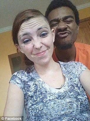 Charged: Her ex-boyfriend Quincy Gardner (pictured, with Willis), then 20, was charged with robbery in the incident