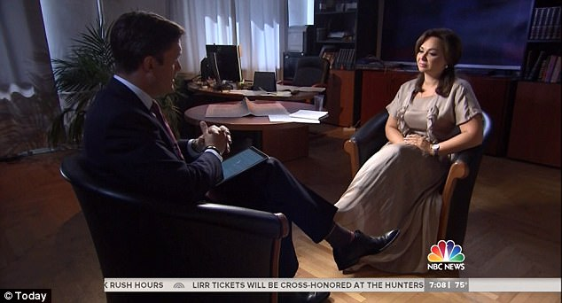 Sitting down with NBC News' Keir Simmons (left), Russian lawyer Natalia Veselnitskaya (right) said she never had any damaging information about Hillary Clinton to provide the Trump campaign