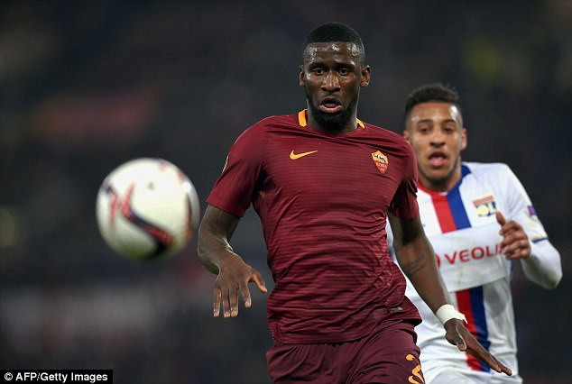 Chelsea completed the signing of Antonio Rudiger from Roma but missed out on a top target