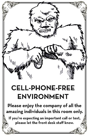 Hilarious signs tell people to put down their phones