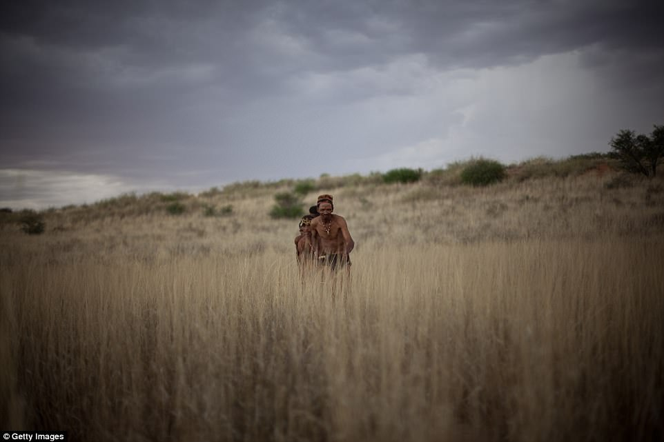 Protected: The Khomani Cultural Landscape is located at the border with Botswana and Namibia, where the Khomani San people (pictured) have devloped strategies which allow them to adapt to harsh desert conditions
