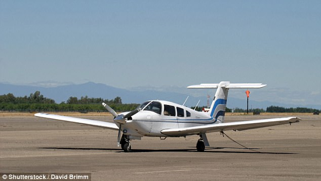 The new app, not unlike Uber, connects riders with pilots who charge low fees for 'lifts'. Although the planes vary by posting, most are two to six seater propeller planes (stock image)