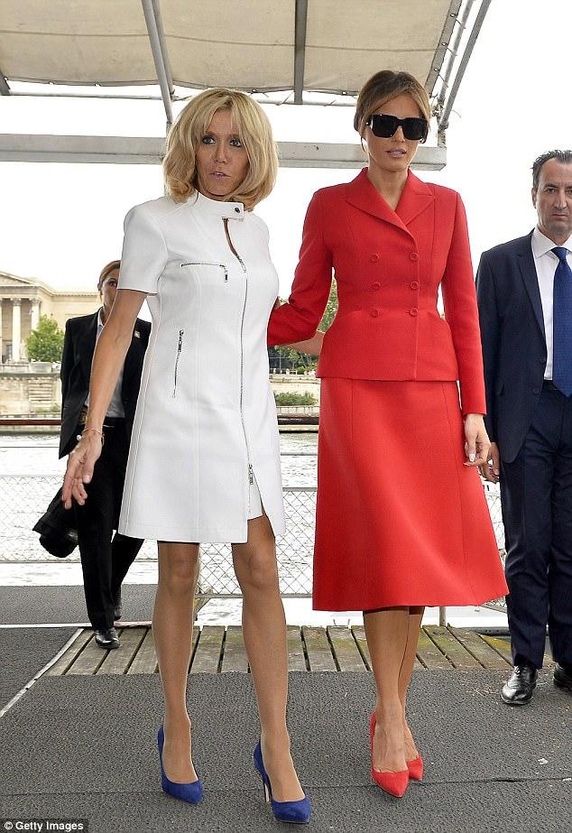 Brigitte Macron takes on Melania Trump in the style stakes