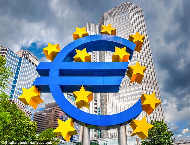 A senior employee at Bank of America Merrill Lynch says the eurozone currency bloc has been gradually falling apart ever since it was formed almost 20 years ago (stock photo)
