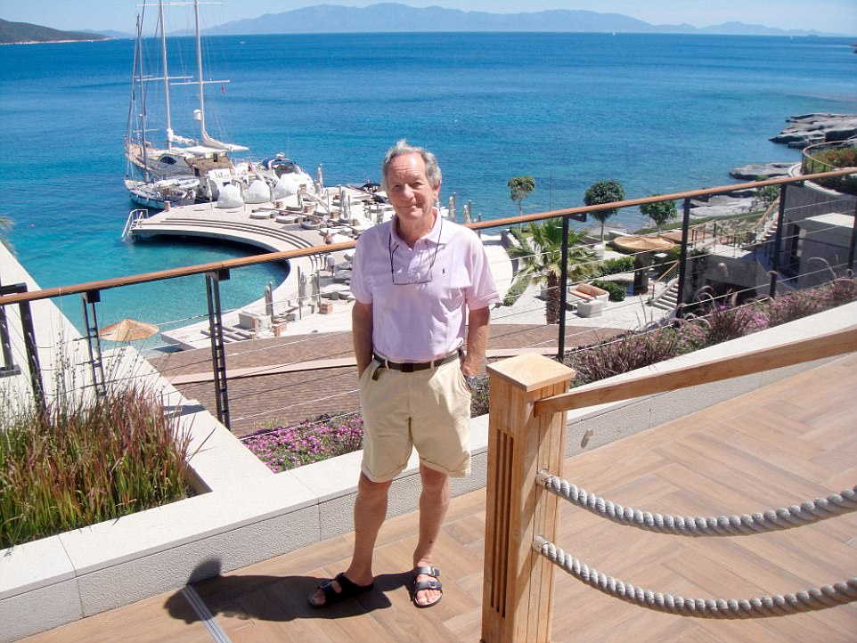 Sailor's delight: BBC Journalist Michael Buerk (pictured) returned to Bodrum in Turkey once again, having sailed there for 20 years