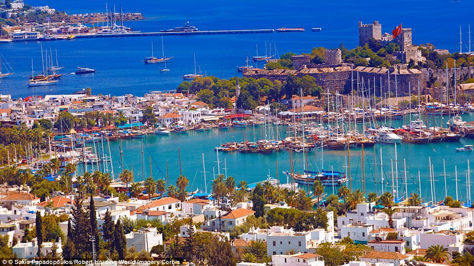 The white-washed, blue-edged houses on Bodrum's harbour are charming and the town is dominated by the Castle of St Peter, built in the 15th century