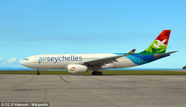 Air Seychelles pilot Captain Captain Roberto Vallicelli made the sharp turn shortly after taking off from Mauritius Airport (stock image) on its way toMahe Island