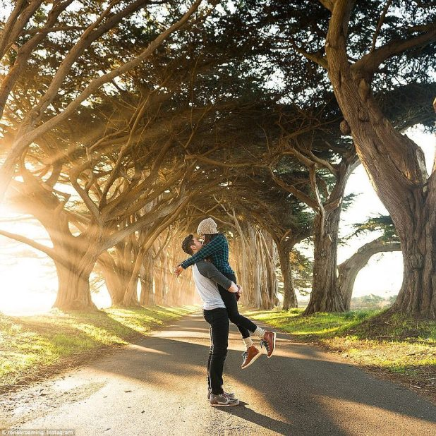 Cypress Tree Tunnel, Seahaven: 'If you told me two years ago that we'd be getting to travel to such amazing places for a living and earn a full time income while doing it I would have laughed. It's just incredible,' she said