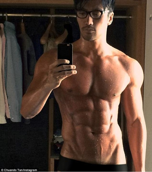 I'll have what he's having: Singapore former male modelChuando Tan is 50 but could pass for a man decades younger with his perfectly-honed physique and youthful face
