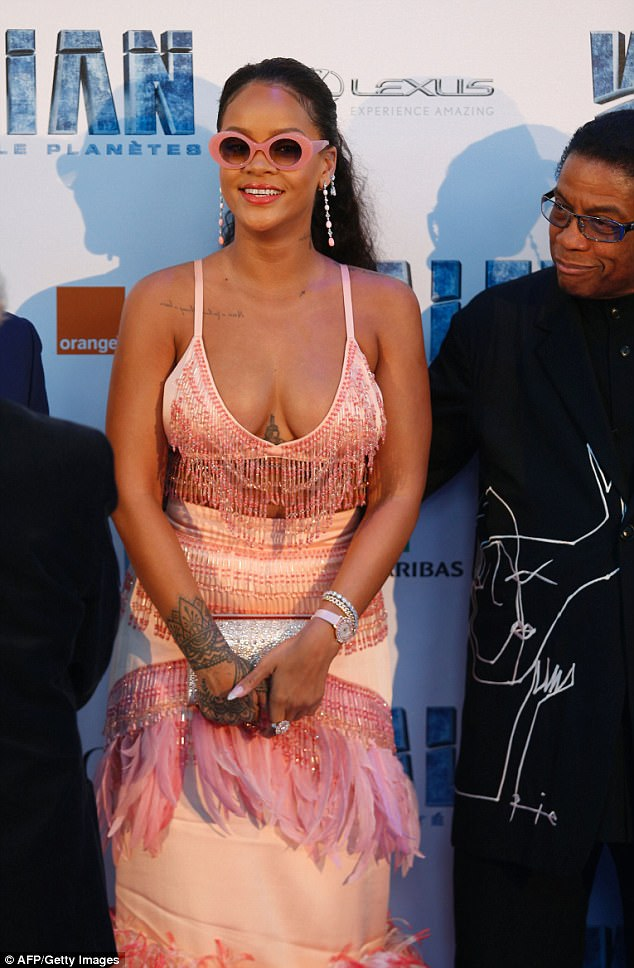 Turning heads:After a short stint away from the limelight she's been turning heads on the tour of her new film. And Rihanna ensured things would be no different at the premiere