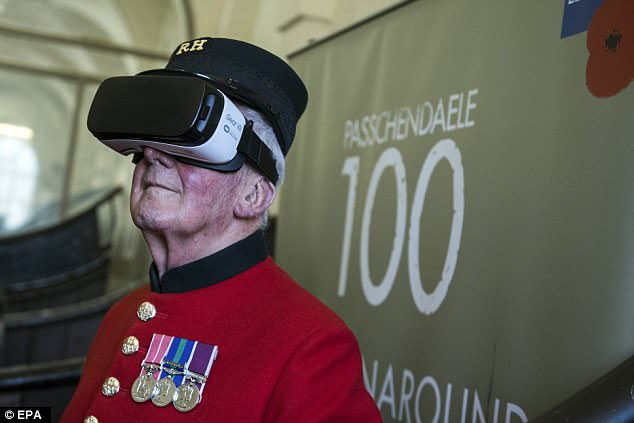 Chelsea Pensioner Bill Hunt, 83, (pictured) spent 25 years in the Royal Horse Guard and was one of the first members of the public to test the new technology.
