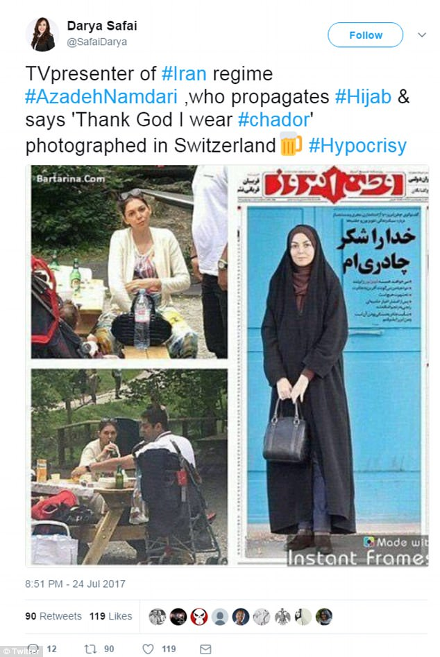 The emergence of the holiday pictures have sparked anger online and accusations of'hypocrisy'