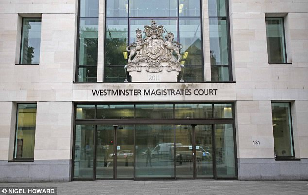 The 17-year-old appeared in the dock at Westminster Magistrates' Court (file picture) yesterday