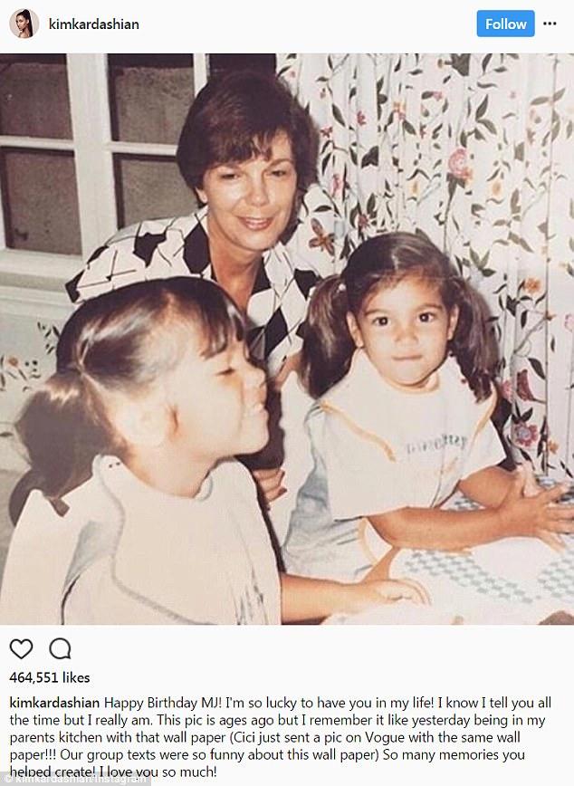 Kim Kardashian Wishes MJ Happy 83rd Birthday Daily Mail Online