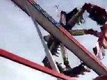 Horror scene: One person has been killed and another three are fighting for their lives after a ride malfunction at the Ohio State Fair on The Fireball (above just moments after crash)
