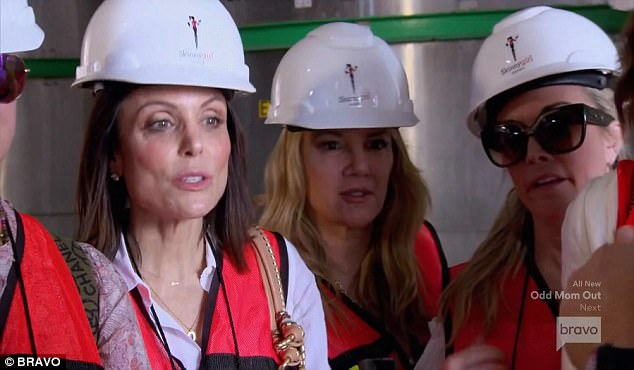 Branded helmets: Bethenny took the crew to Tequila, Mexico to check out a distillery for her Skinnygirl Cocktails