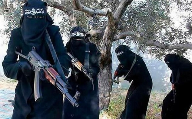 Jihadi recruits: Gun-toting members of Islamic State's all-female unit in Raqqa, Syria