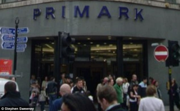 This is the Primark store on Market Street in Manchester where the shocking incident took place