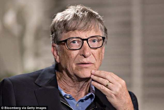 Bill Gates , 61, held the title of richest man since May 2013 (pictured Bill Gates April 2017)