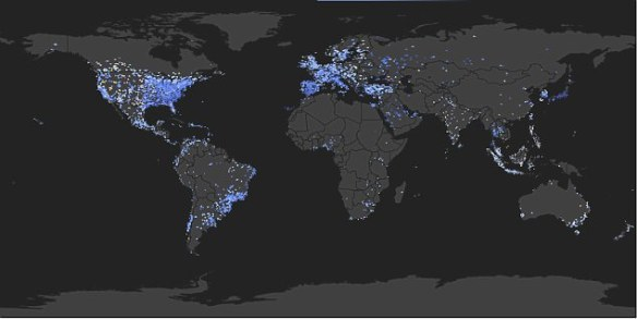 Geo-locations of Twitter messages containing 'Gangnam Style' showed how social internet phenomenons spread like wildfire discovered the dispersion mimics the infectious diseases of the middle ages