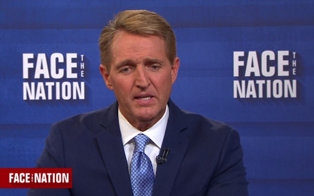Arizona Senator Jeff Flake said he thinks Republicans who don't call out Trump on his conduct are being 'complicit', the lawmaker said on Sunday