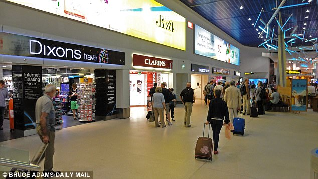 Muhammad was making his way from Manchester Airport (file photo) to Italy when the device was found