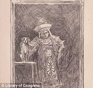 Baron Trump in the 19th century tome looks eerily like present day Barron Trump